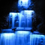Blue Light Waterfall
