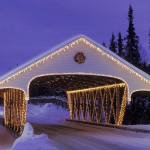 Híd Háttérkép - CHRISTMAS_COVERED_BRIDGE_